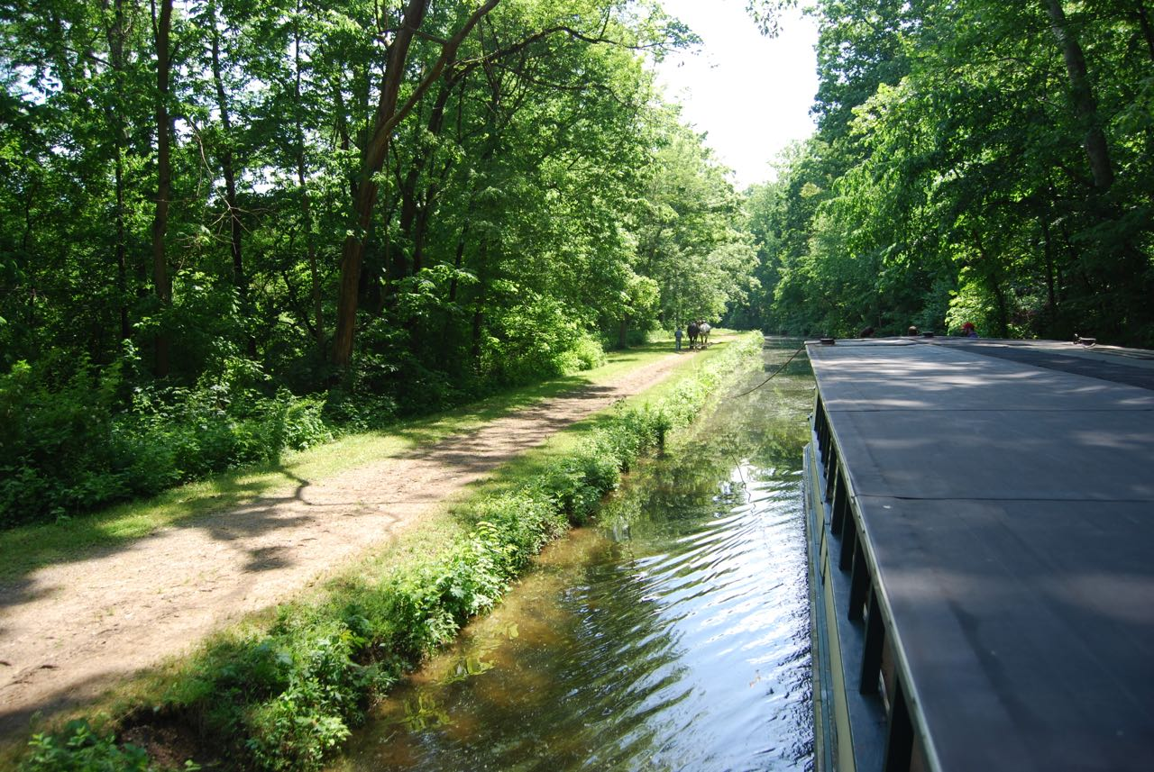 Draft horse path for canal boat Coshocton