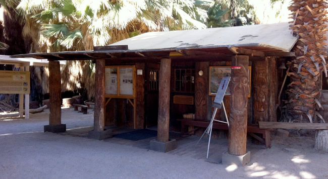 Image of the information center at the Coachella Valley Preserve near Palm Springs RV Resort