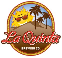 Logo of the La Quinta Brewing Co a brewery and taproom near the Palm Springs RV park