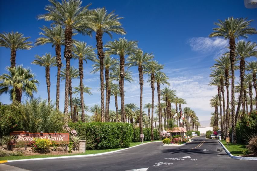 Image of Palm Springs RV Resort. A Thousand Trails resort in Palm Springs