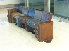 Suitcase Sculptures Indianapolis Airport